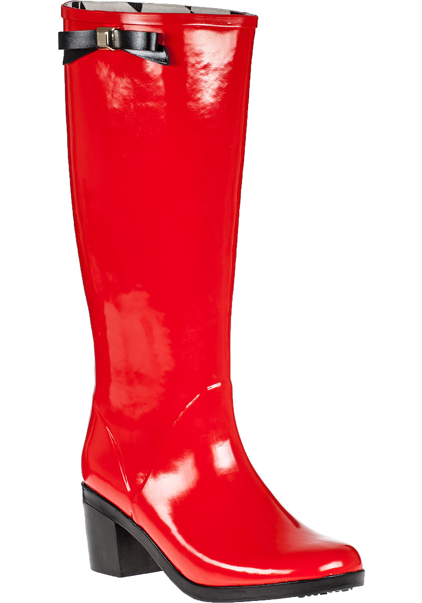 Kate spade new york Romi Rain Boot Red Rubber in Red | Lyst