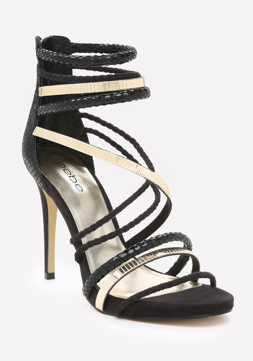 ca66866d80a Lyst - Bebe Nedda Strappy Sandals in Metallic