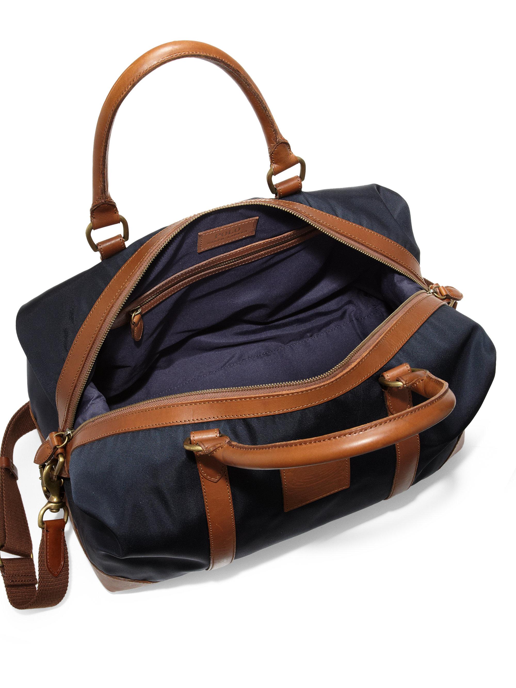 4be0361fbc16 Lyst - Polo Ralph Lauren Nylon Duffel Bag in Black for Men