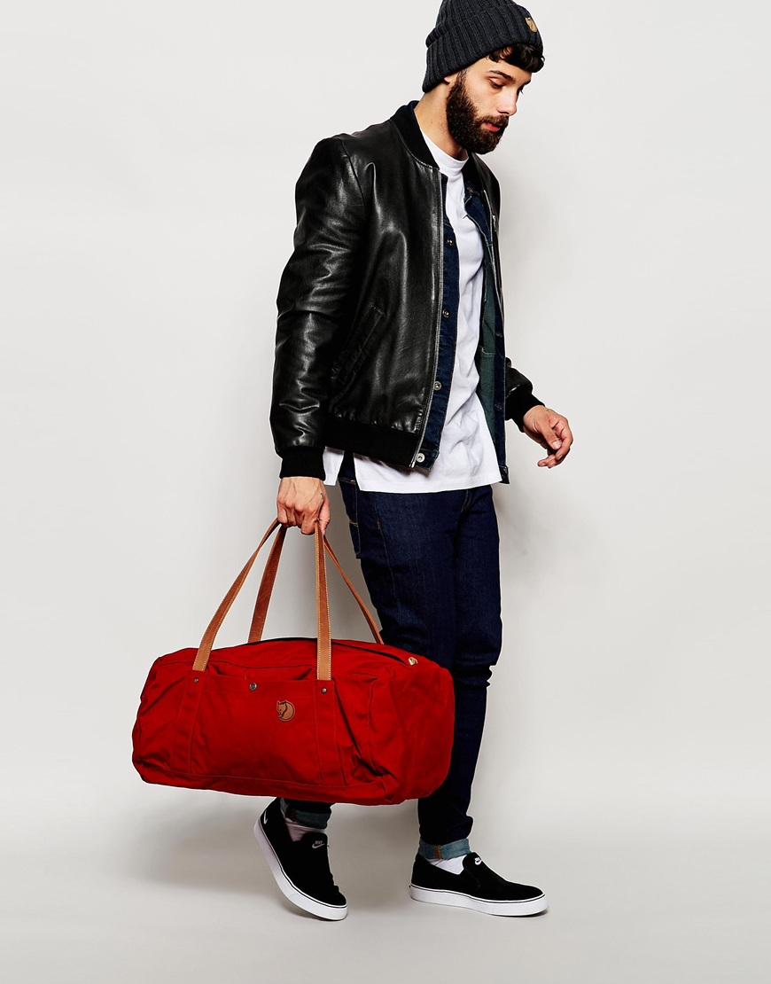 0a89772d747a Lyst - Fjallraven No.4 Duffle Bag In Large in Red for Men