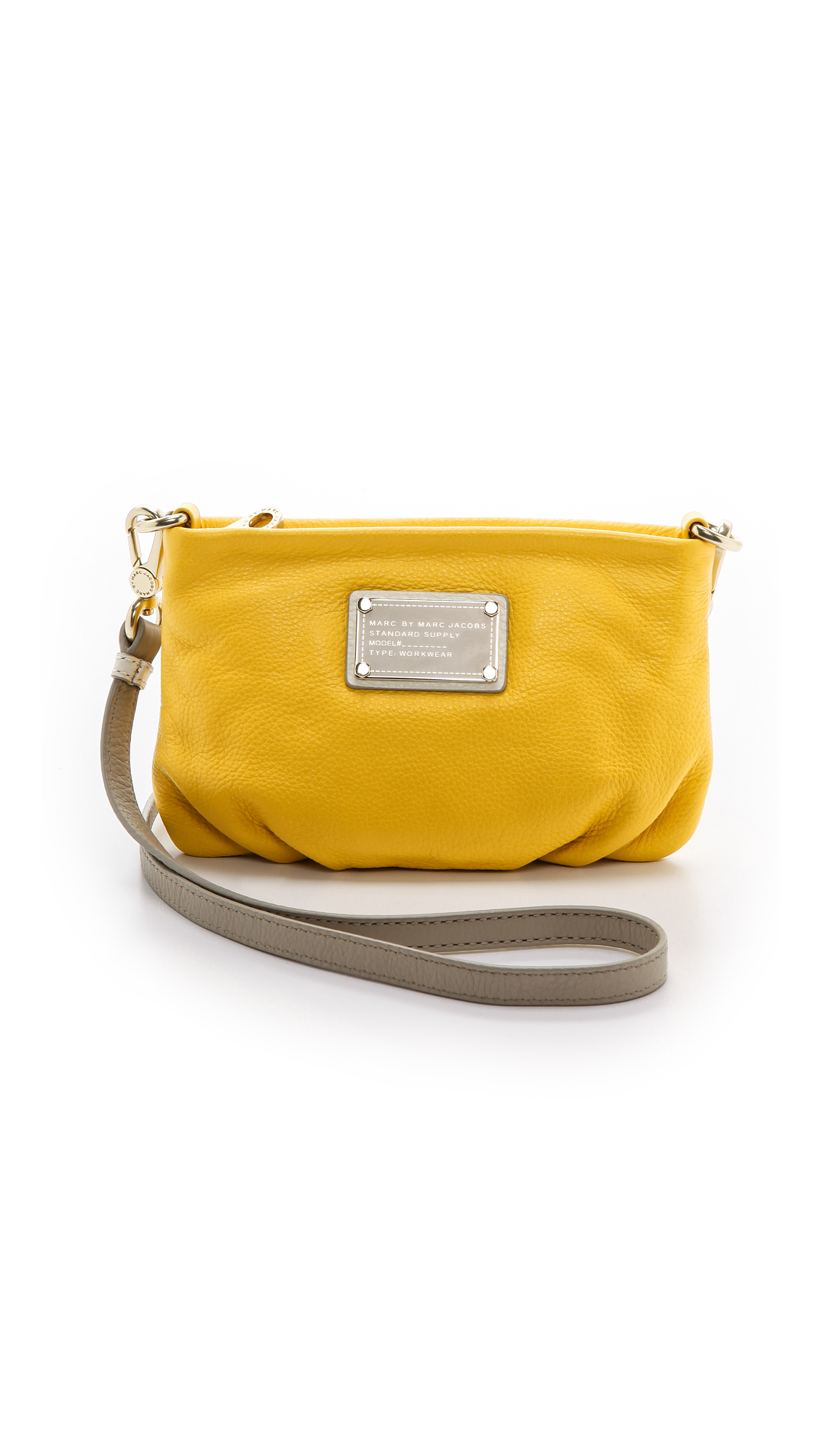 Marc By Marc Jacobs Classic Q Colorblocked Percy Bag Black Multi in Yellow (Grapefruit Zest ...