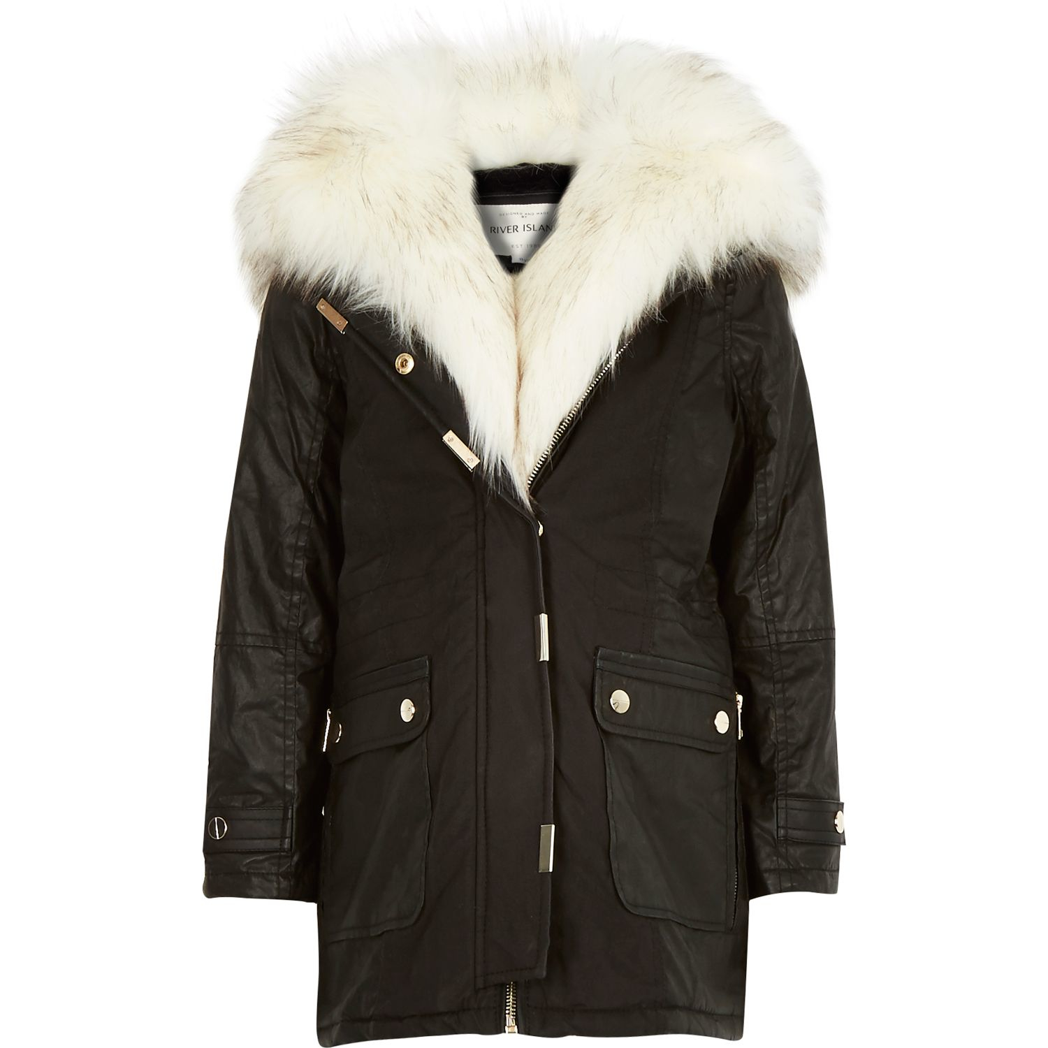 River Island Faux Fur Coats And Jackets - Tradingbasis
