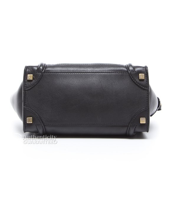 celine bag for less - C��line Preowned Black Calfskin Micro Luggage Tote Bag in Black | Lyst