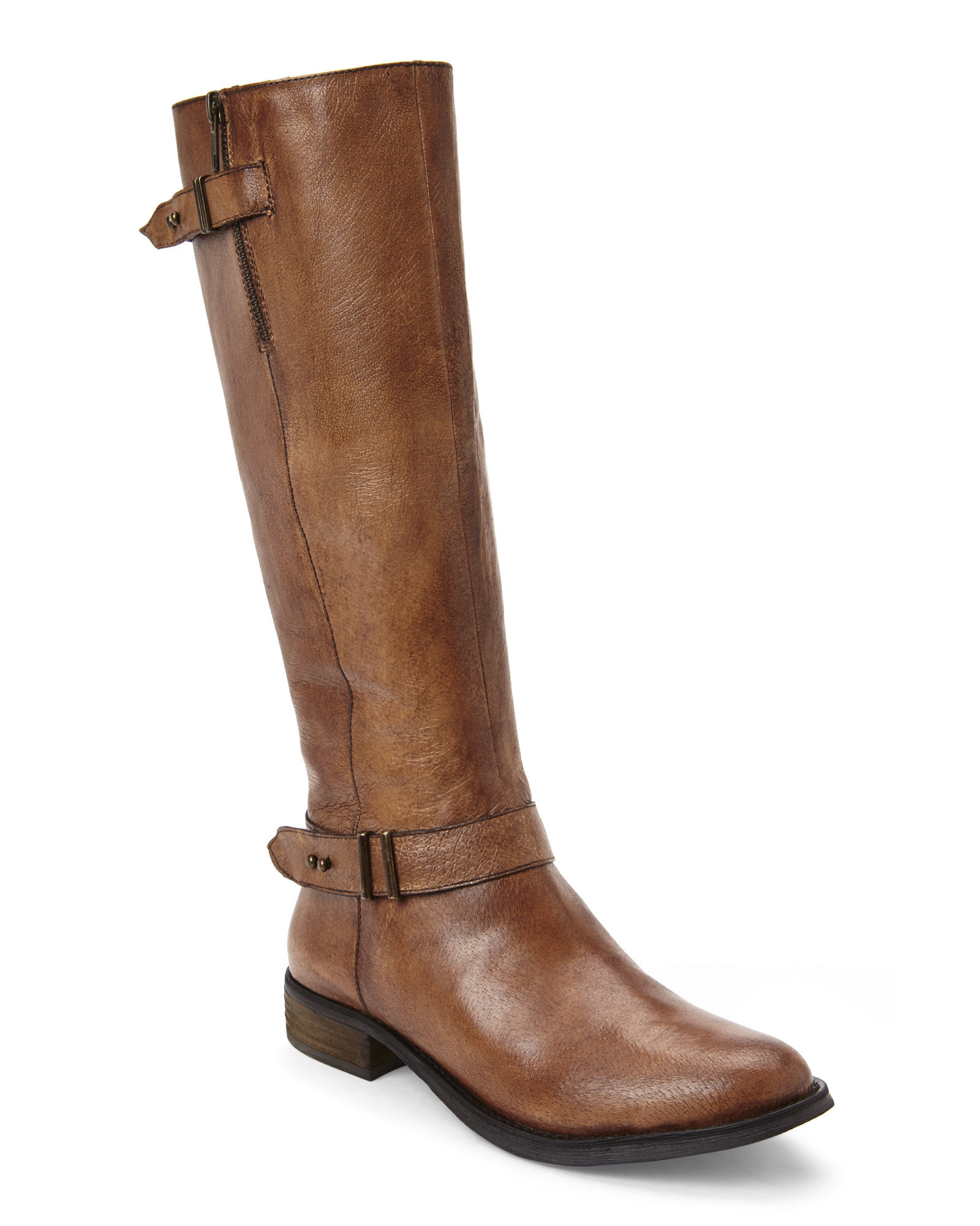 steve madden cognac alyy riding boots in brown lyst. Black Bedroom Furniture Sets. Home Design Ideas