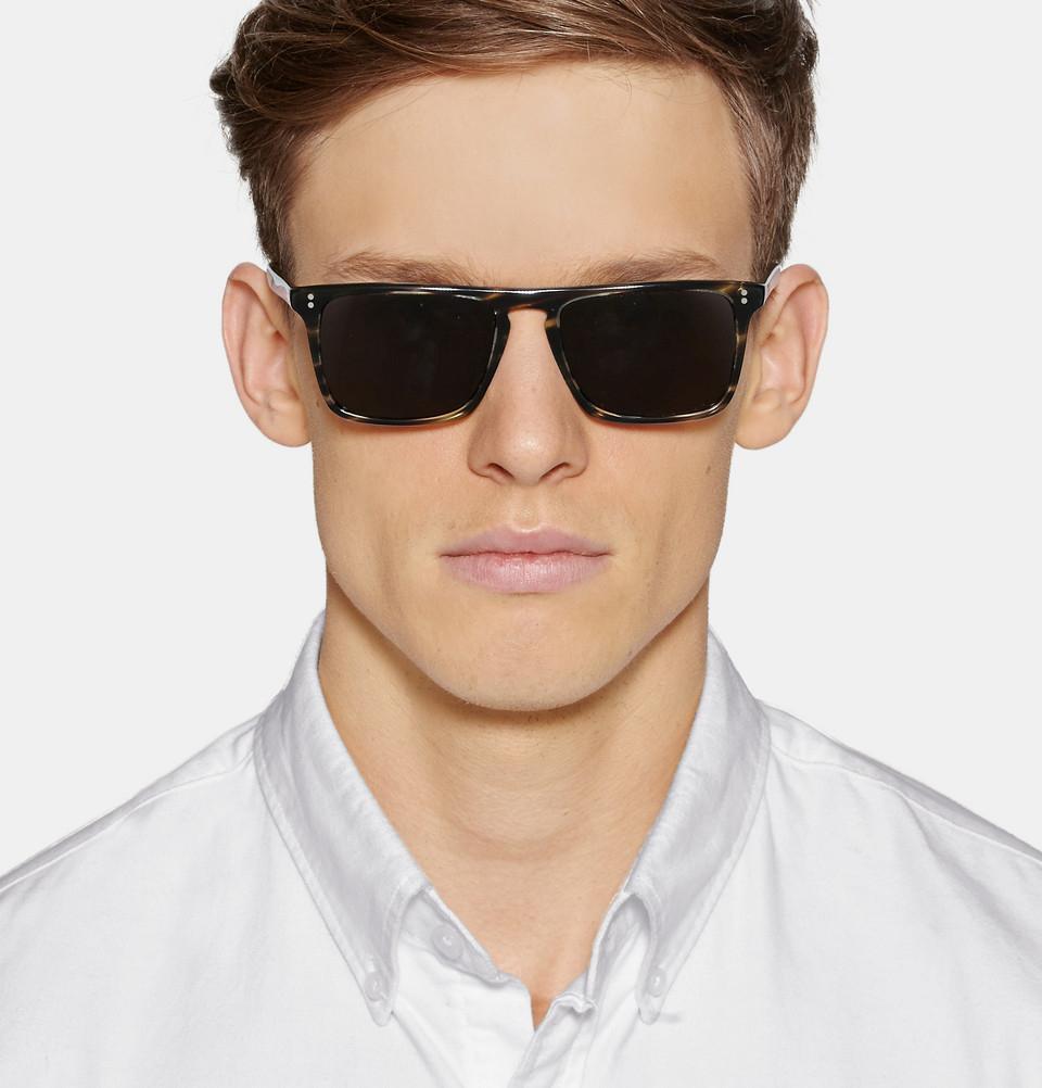 Lyst Oliver Peoples Bernardo D Frame Acetate Sunglasses