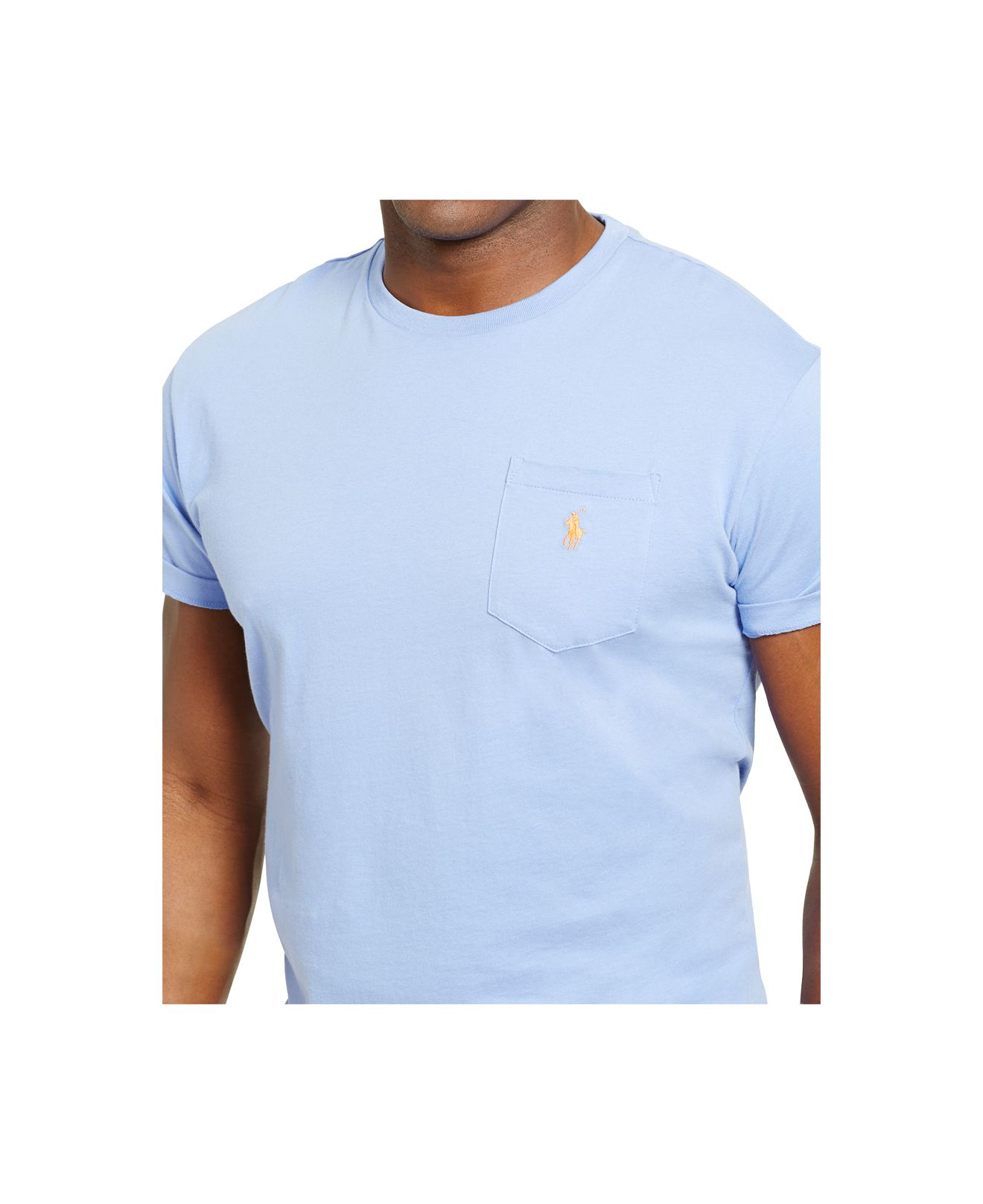 Lyst polo ralph lauren big tall jersey pocket t shirt for Big and tall polo shirts with pockets