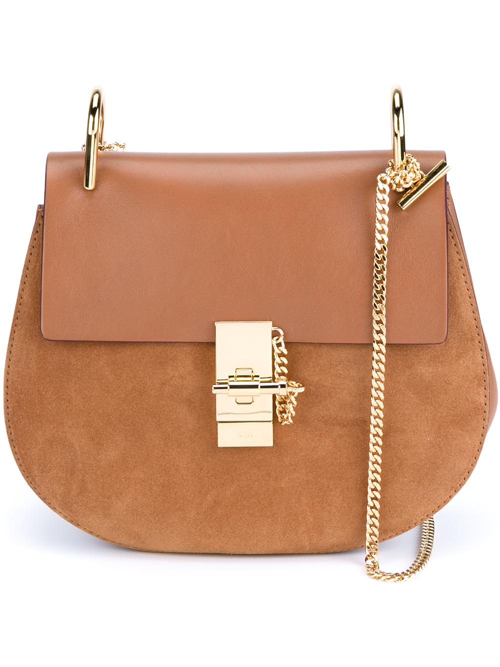 chloe marcie knockoff - Chlo�� Small Leather Drew Bag in Brown (CARAMEL) | Lyst