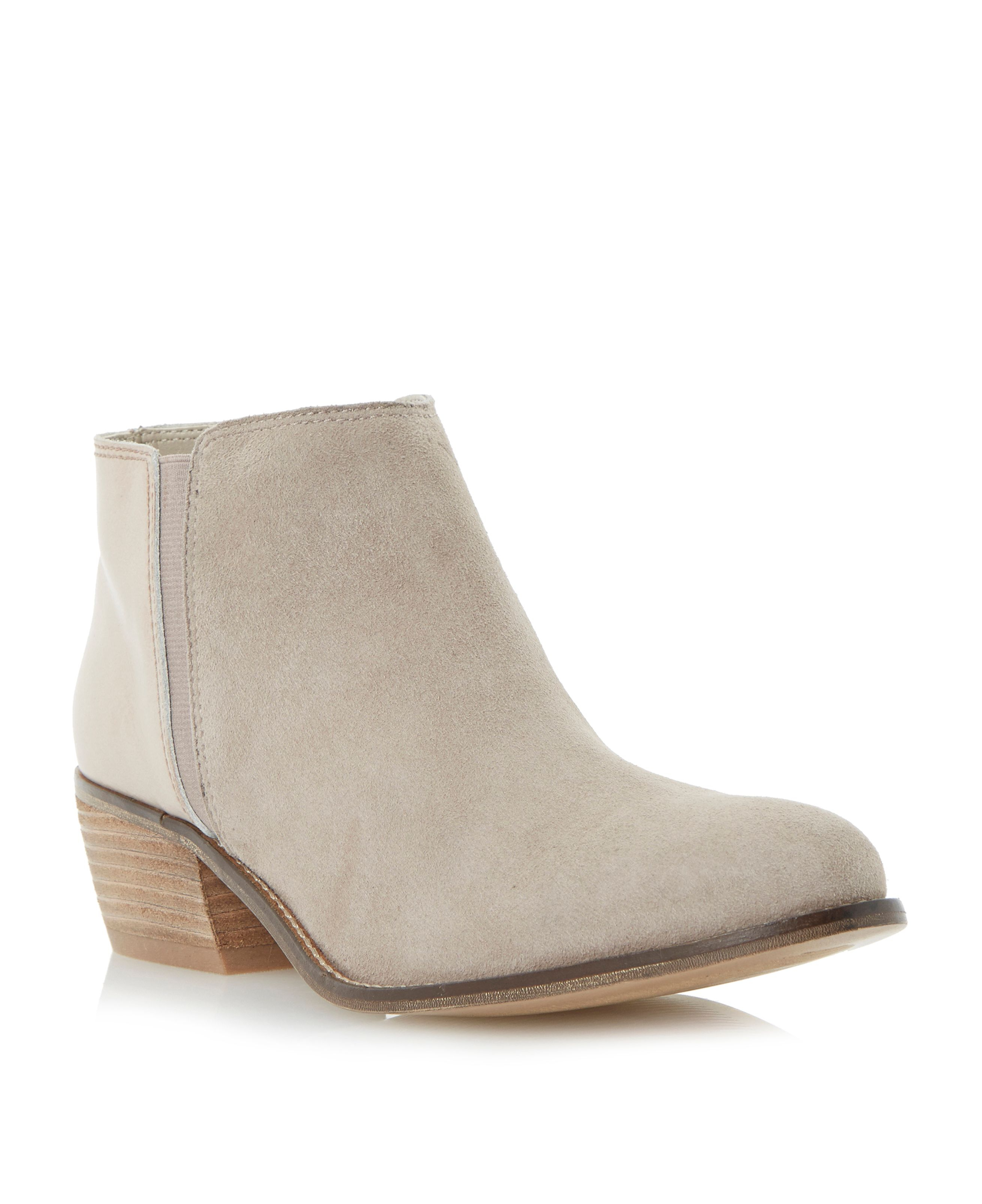 Dune Penelope Leather Low Ankle Boots in Natural | Lyst