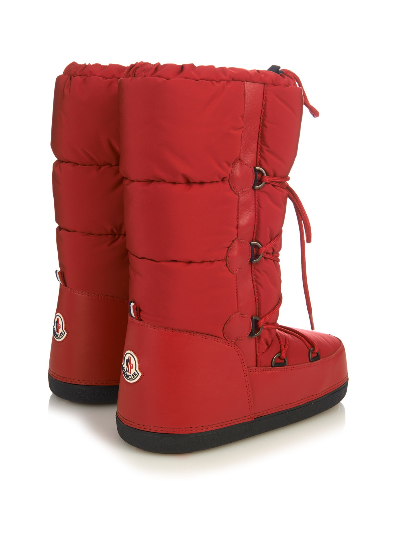 Moncler Moon Quilted Aprés-ski Boots in Red - Lyst 964f025c27e