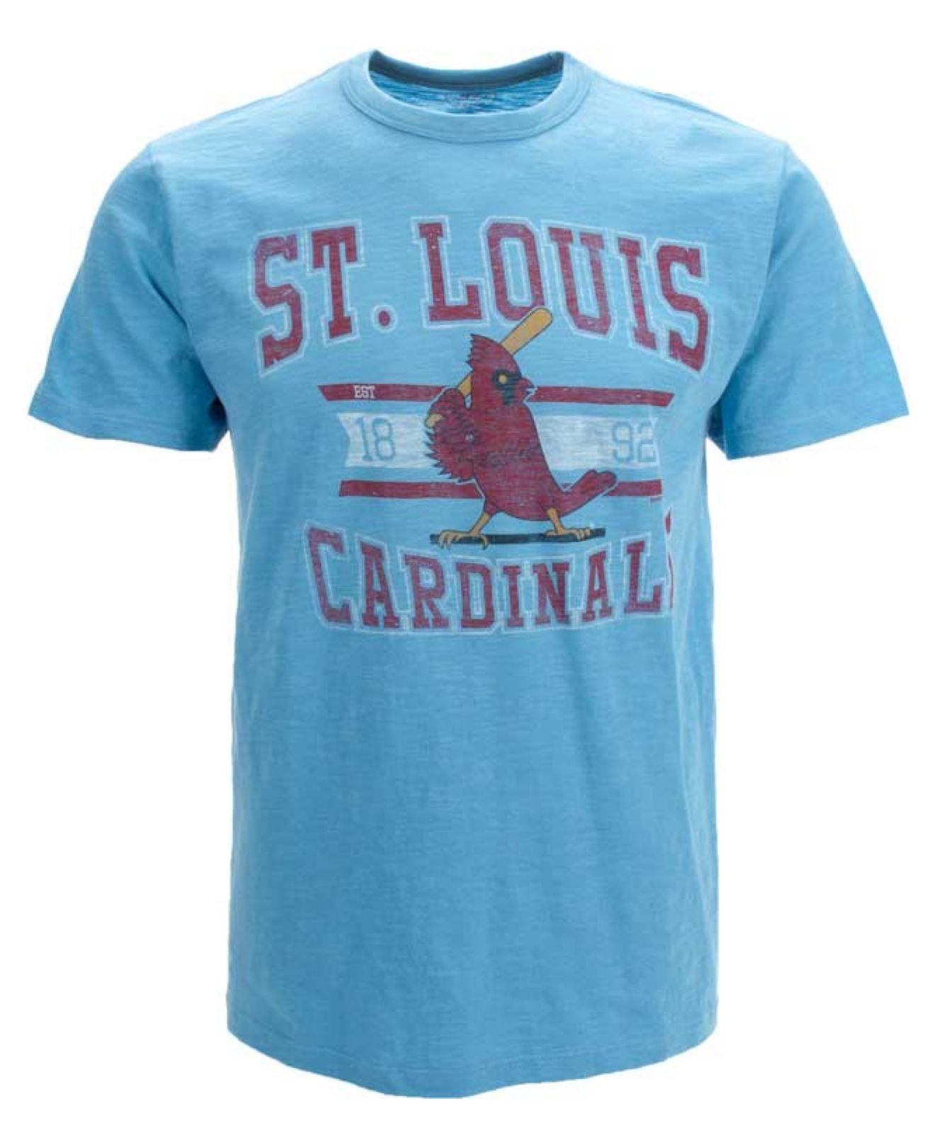 47 brand men 39 s st louis cardinals scrum t shirt in blue for St louis t shirt printing