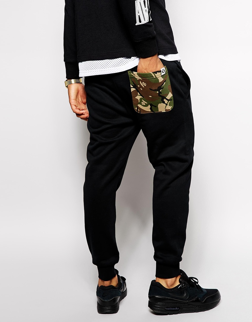 39c5bac8 Aape By A Bathing Ape Joggers With Now Print in Black - Lyst