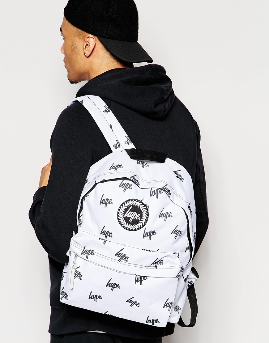 51bb4c9aa16c Lyst - Hype Embroidered Logo Backpack in Black for Men
