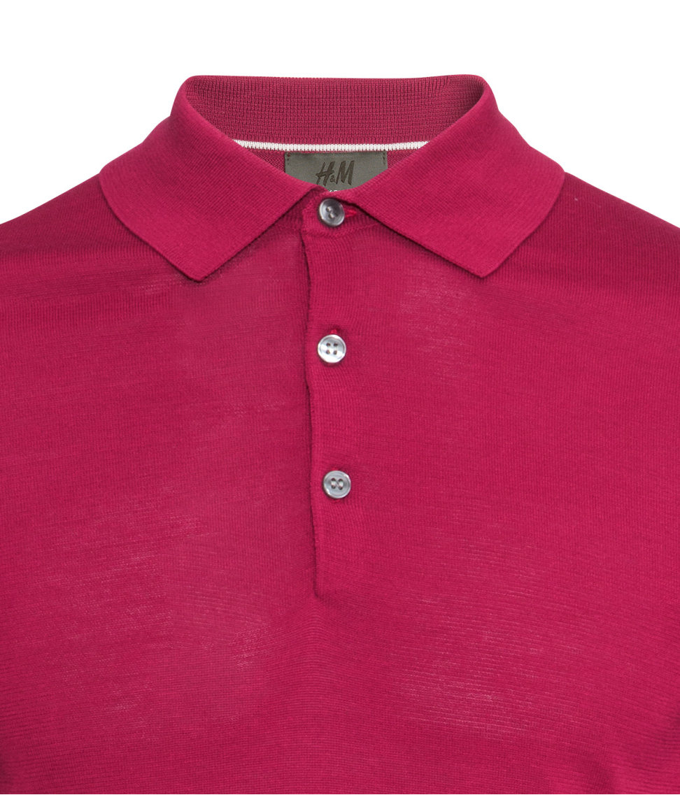 H m polo shirt in a silk mix in red for men lyst for H m polo shirt mens