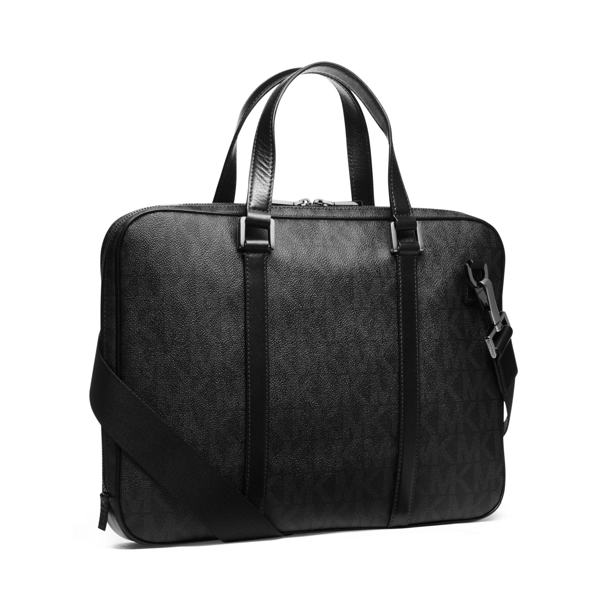a981eea7fd34 Lyst - Michael Kors Jet Set Men s Logo Briefcase in Black for Men