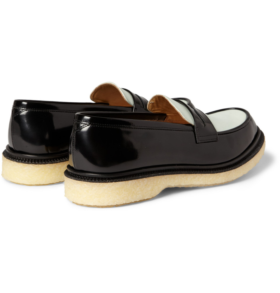 0254d2af103 Lyst - Adieu Two-Tone Crepe-Soled Penny Loafers in Black for Men