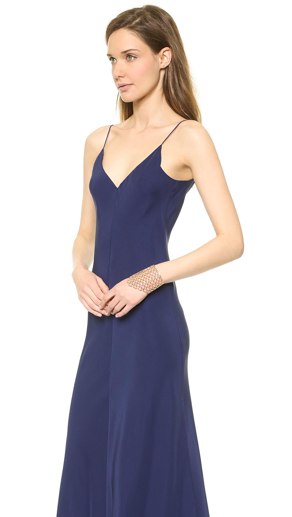 Lyst - Amanda Uprichard Bias Maxi Dress in Blue