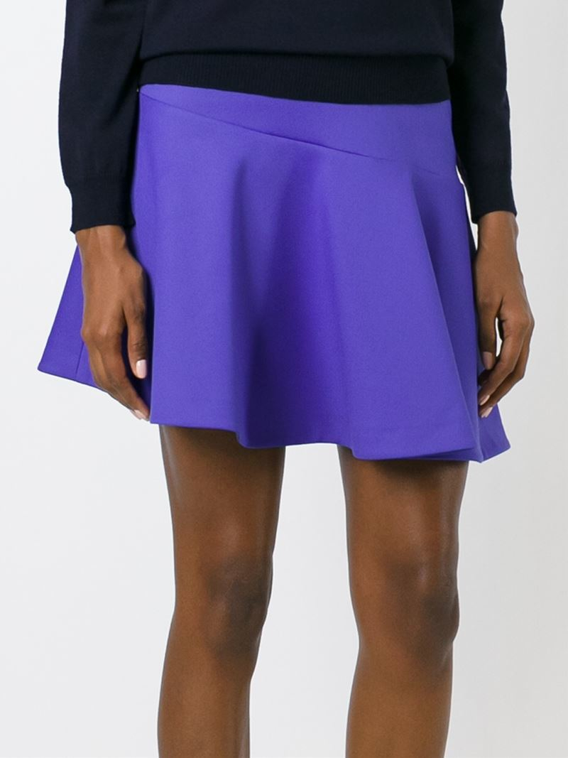 msgm flared a line skirt in blue lyst