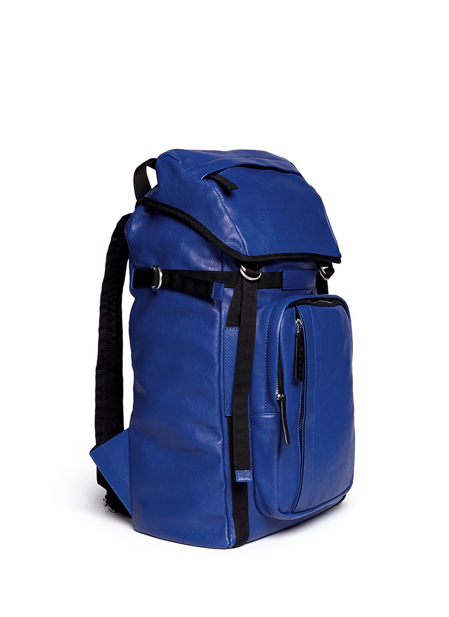 Marni Nappa Leather Backpack in Blue for Men | Lyst