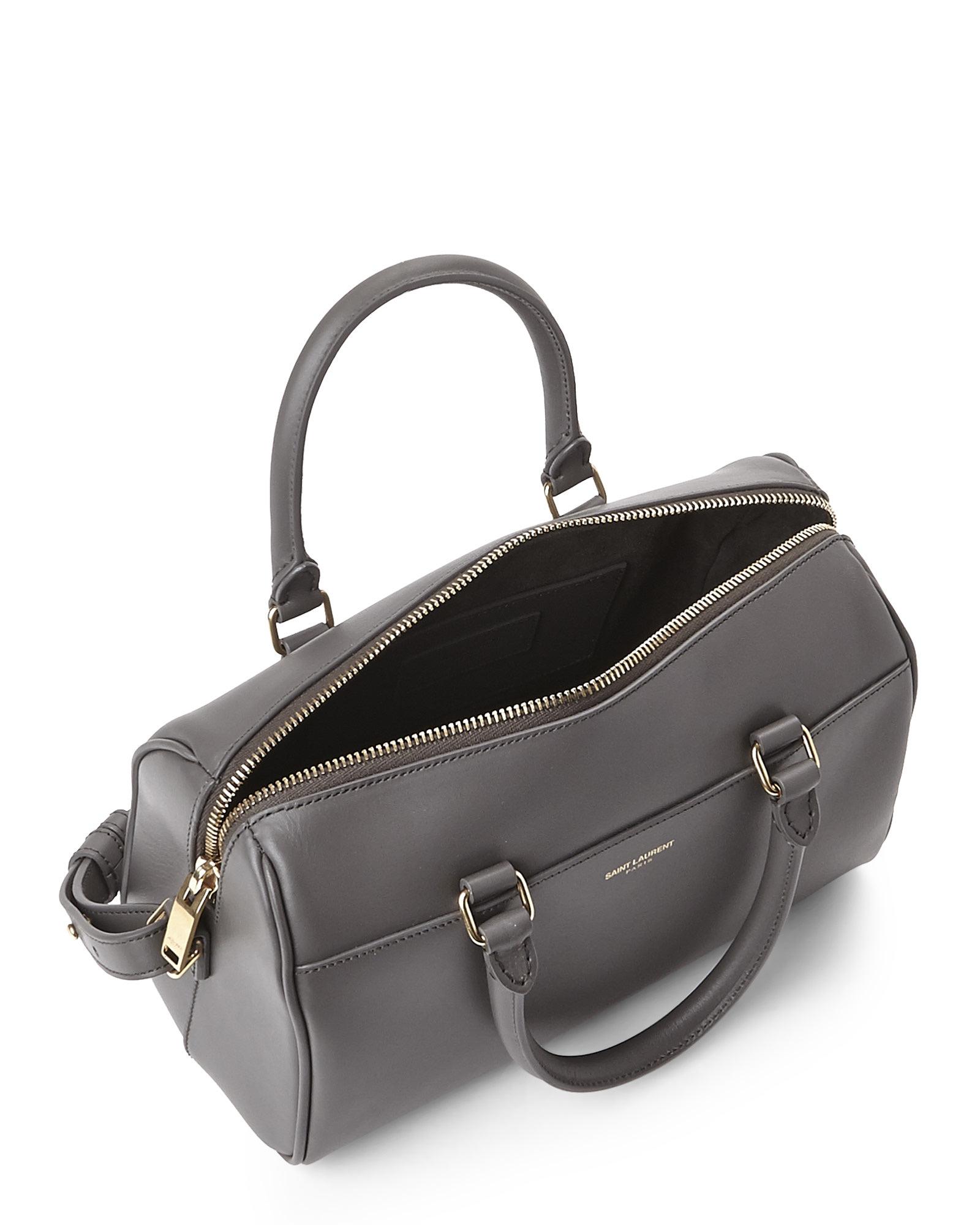 b9408fa6989 Saint Laurent Fog Baby Duffle Bag in Gray - Lyst