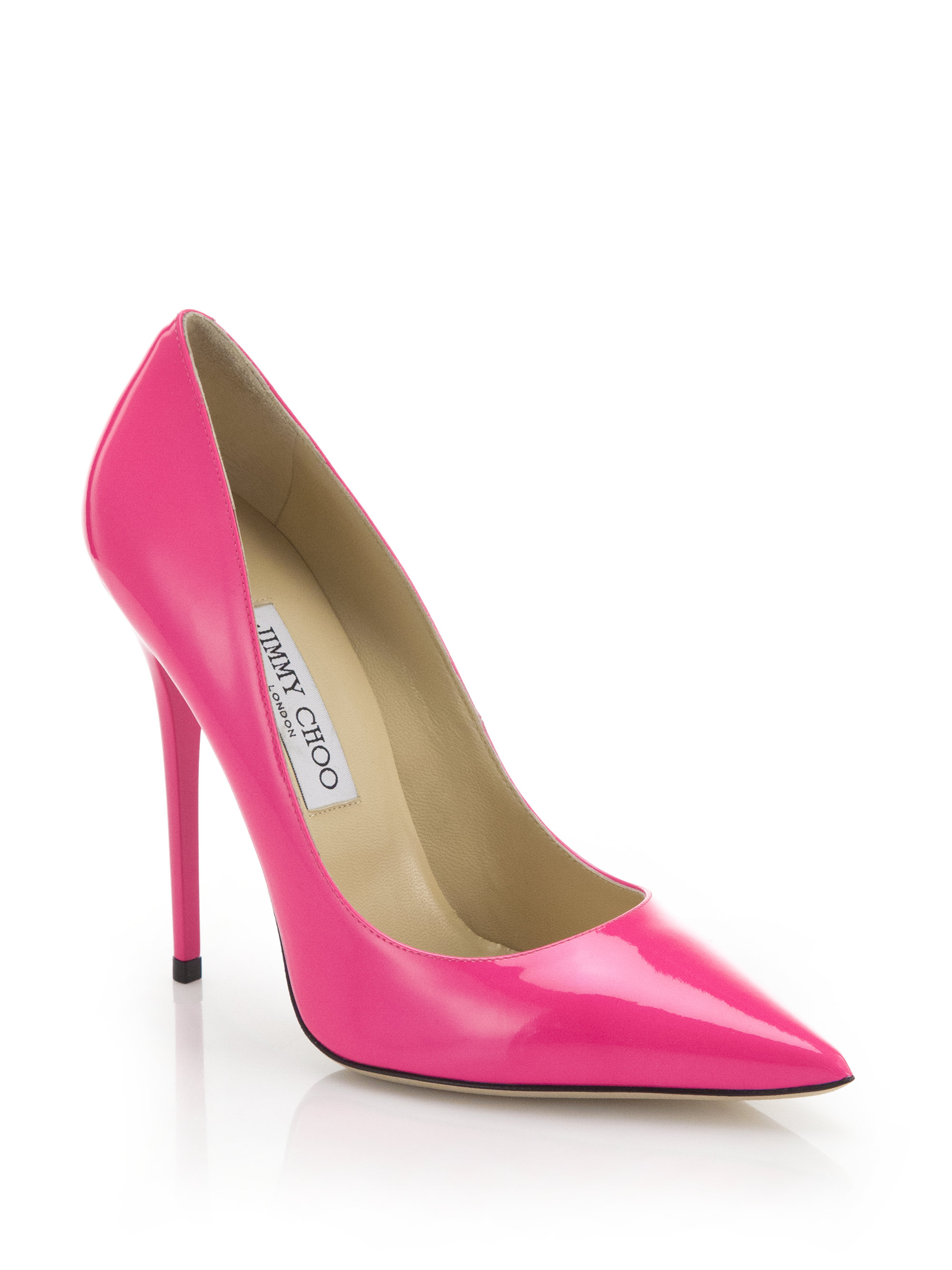 031d620d2f2 Lyst - Jimmy Choo Anouk Patent Leather Pumps in Pink