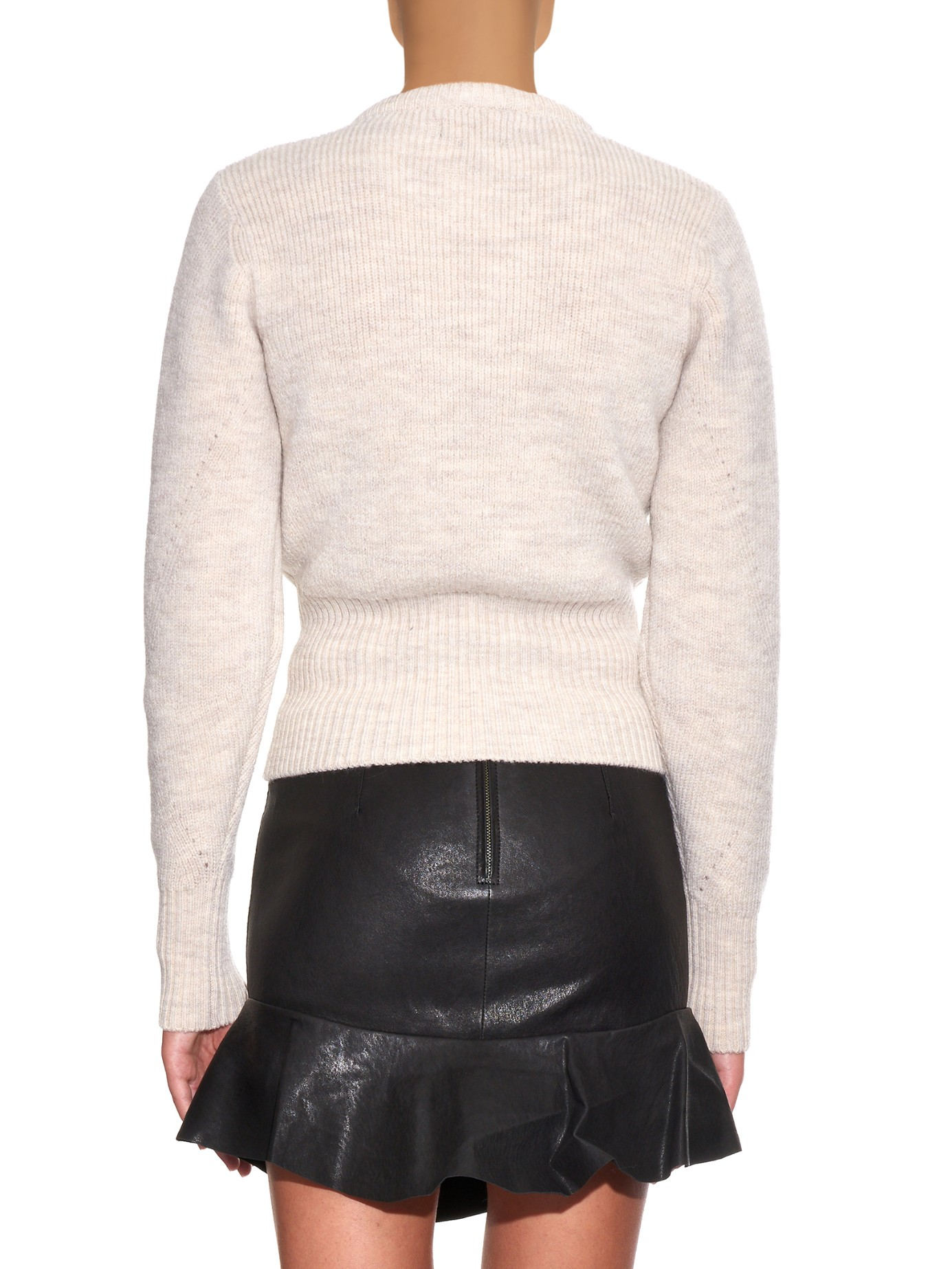 15829201f2 Lyst - Isabel Marant Charley Lace-up Wool-blend Sweater in White