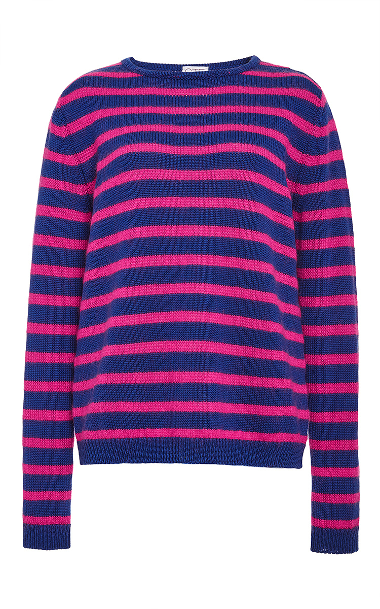 Stella jean Virgin Wool And Mohair Yonkers Striped Sweater in ...