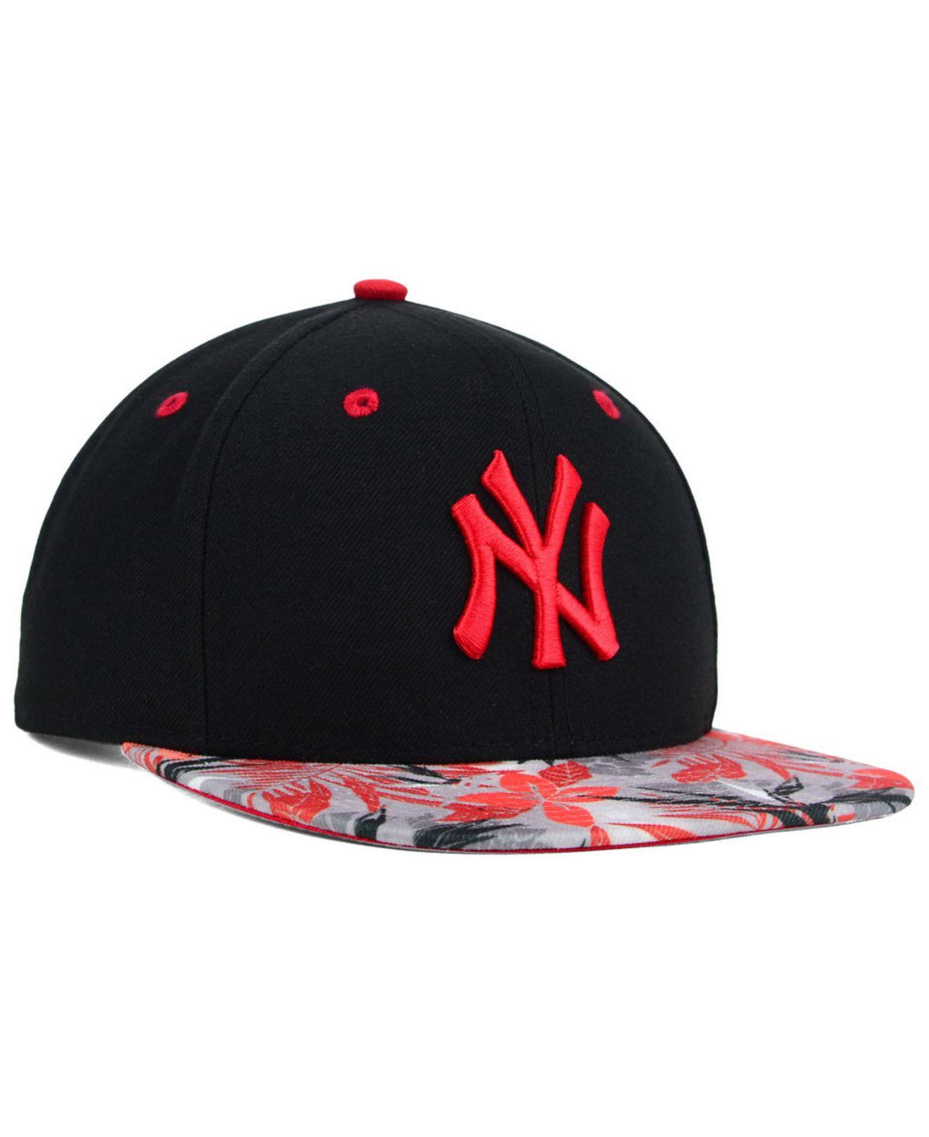 442f4ee29f0 Lyst - KTZ New York Yankees Floral Viz 9fifty Snapback Cap in Black ...