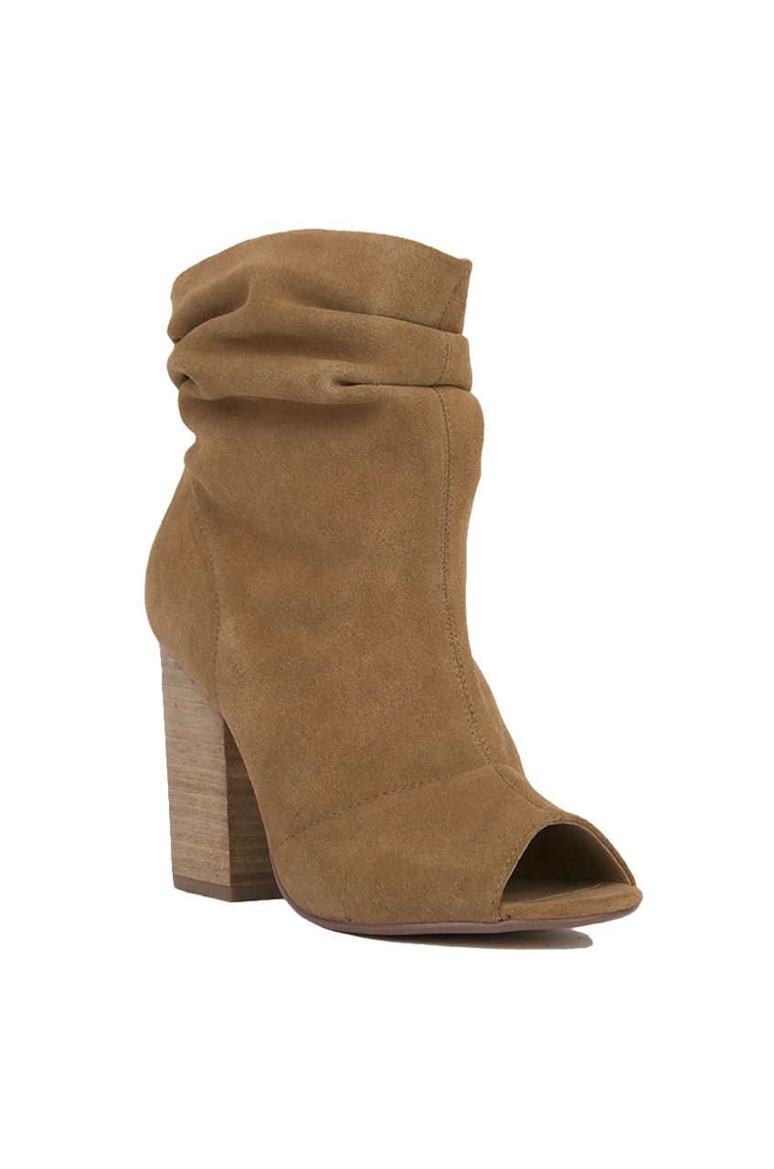 Lyst Chinese Laundry Break Up Peep Toe Slouch Booties