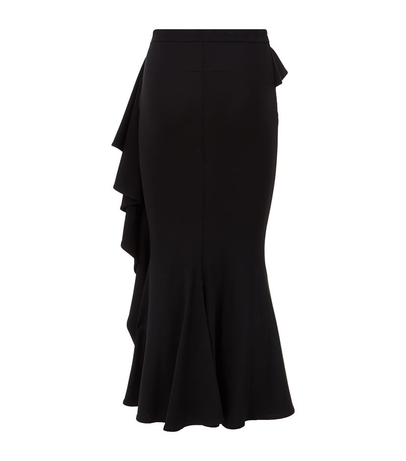 givenchy ruffle jersey midi skirt in black lyst