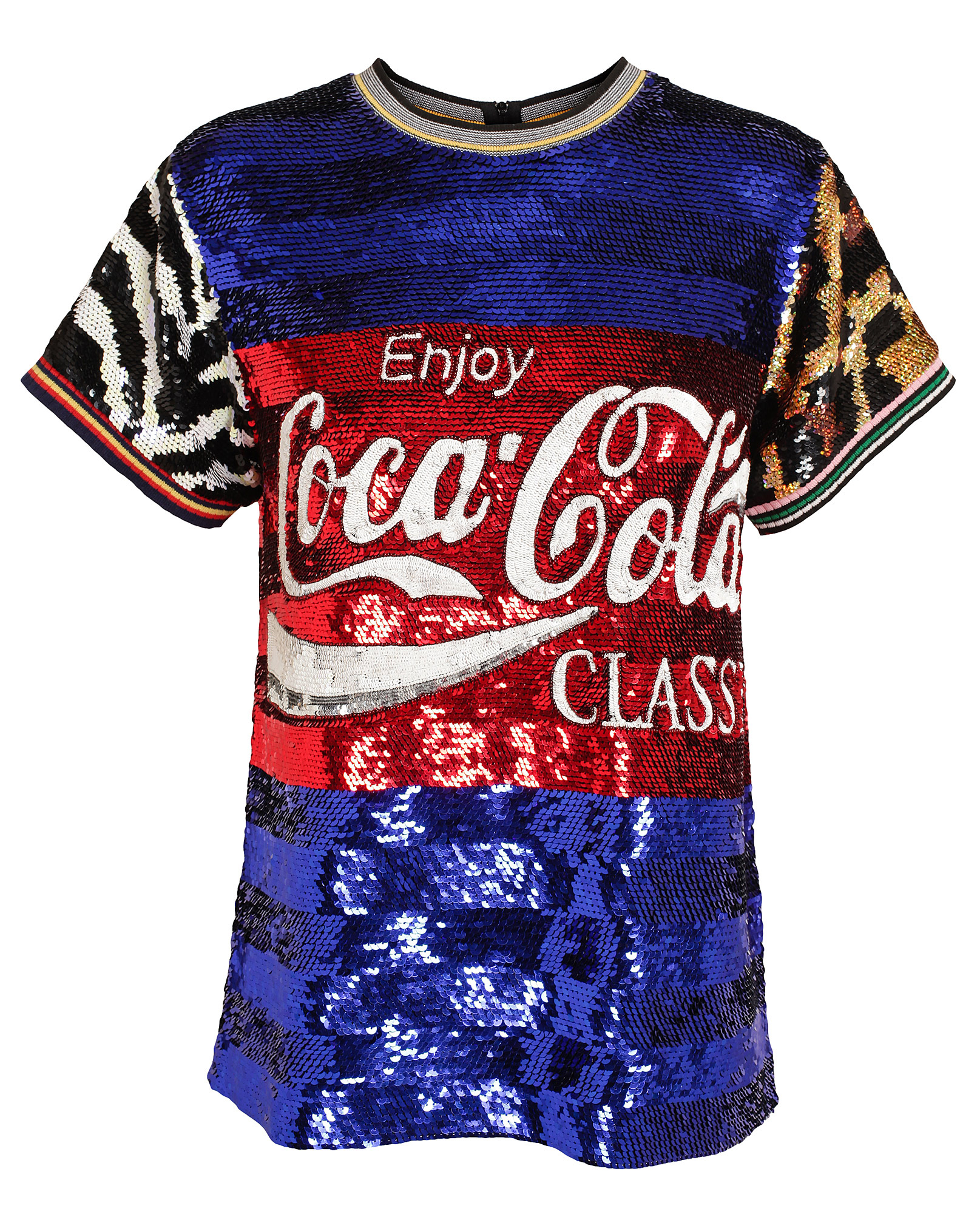 ashish coca cola classic sequin top in blue lyst. Black Bedroom Furniture Sets. Home Design Ideas