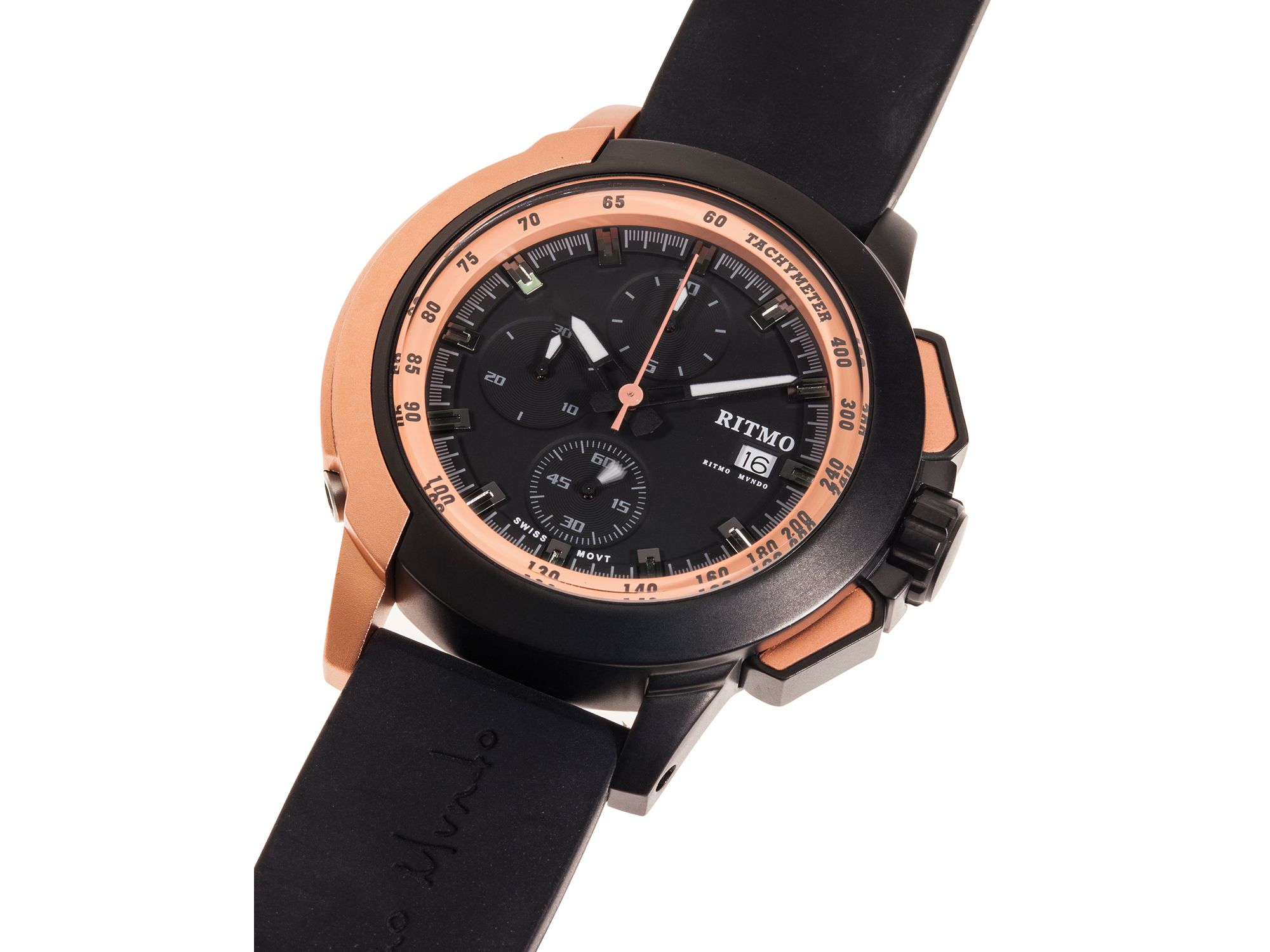 watches chronograph en firenze black detomaso