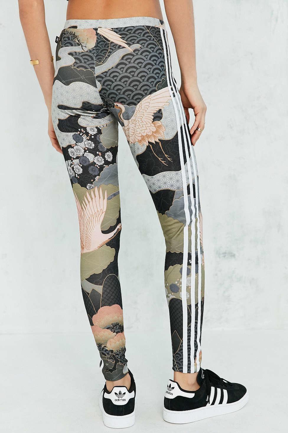 lyst adidas originals originals by rita ora kimono print legging. Black Bedroom Furniture Sets. Home Design Ideas