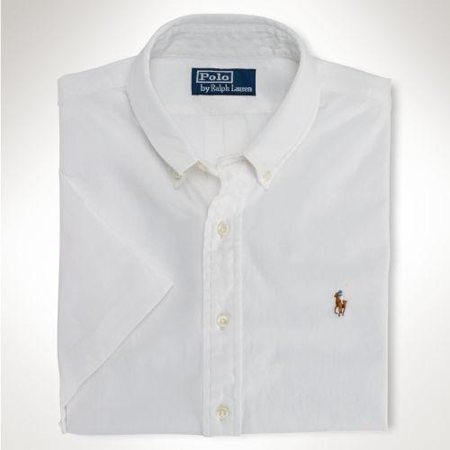 Ralph Lauren Men Slim-Fit American Big Polo Navy Short Sleeved