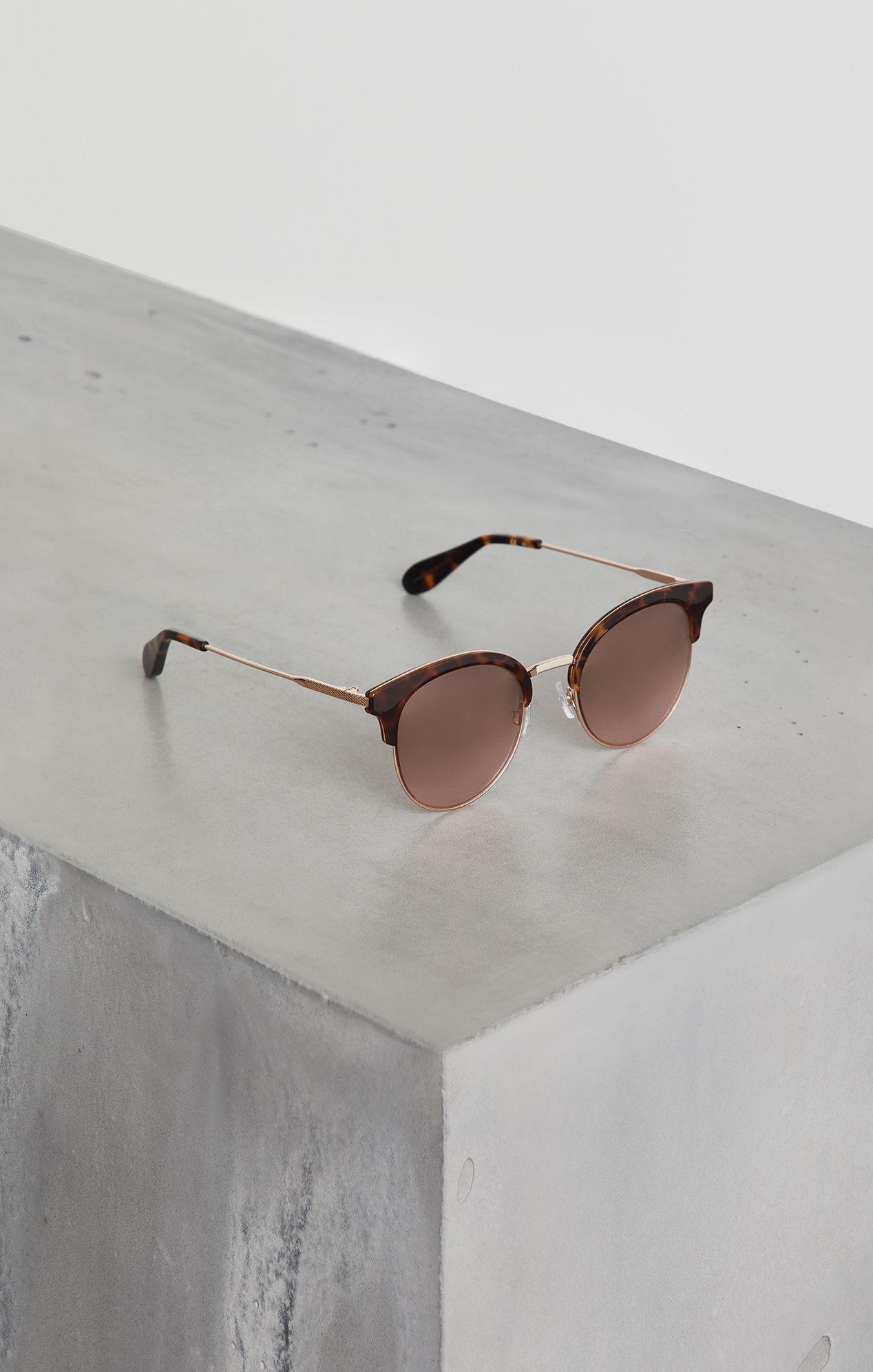 d8fc2f5010 Lyst - Bcbgmaxazria Bcbg Cat Eye Combo Sunglasses in White