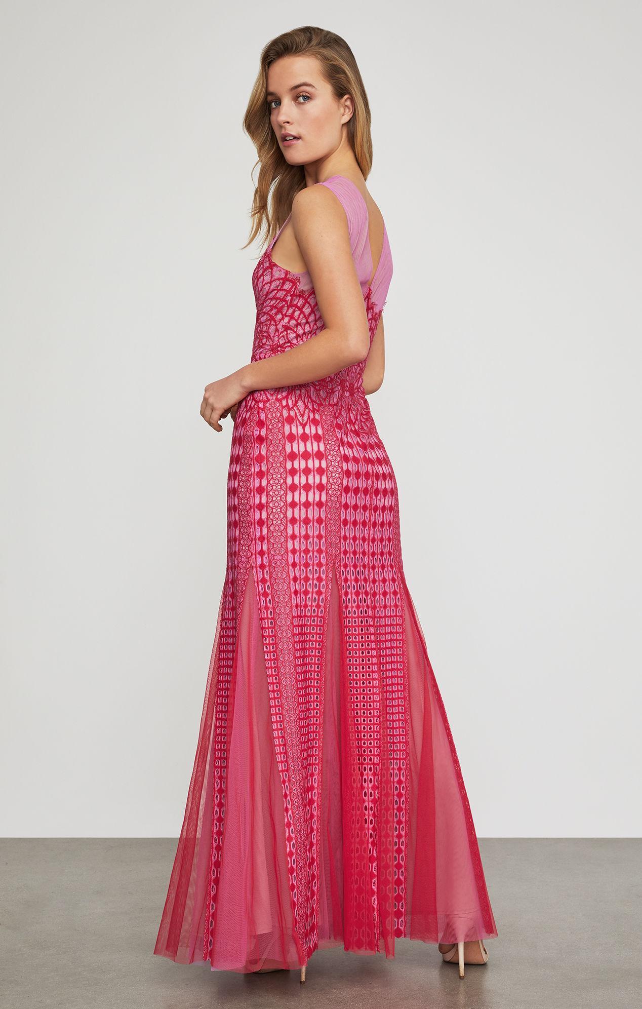 af27b48616e3 BCBGMAXAZRIA - Pink Bcbg Elinor Sleeveless Lace Gown - Lyst. View fullscreen