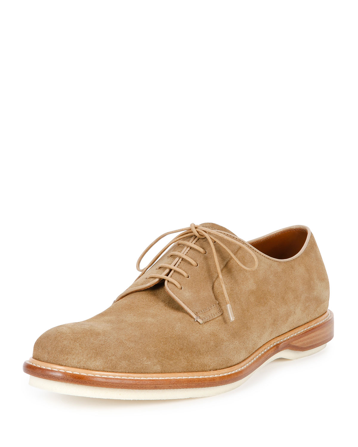 Bally Steve Suede Derby Shoe In Natural For Men Lyst