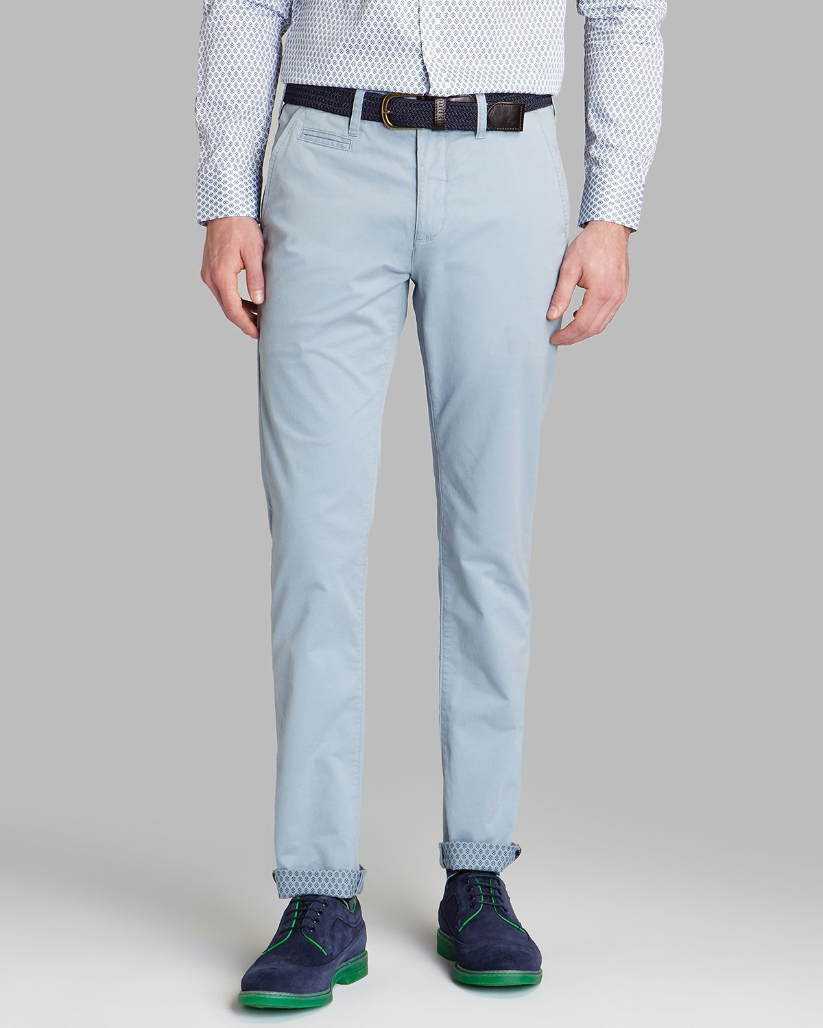 Ted baker Mordord Slim Fit Chino Pants in Blue for Men | Lyst