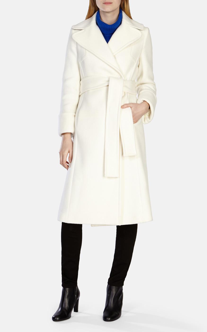 Womens white wool coat