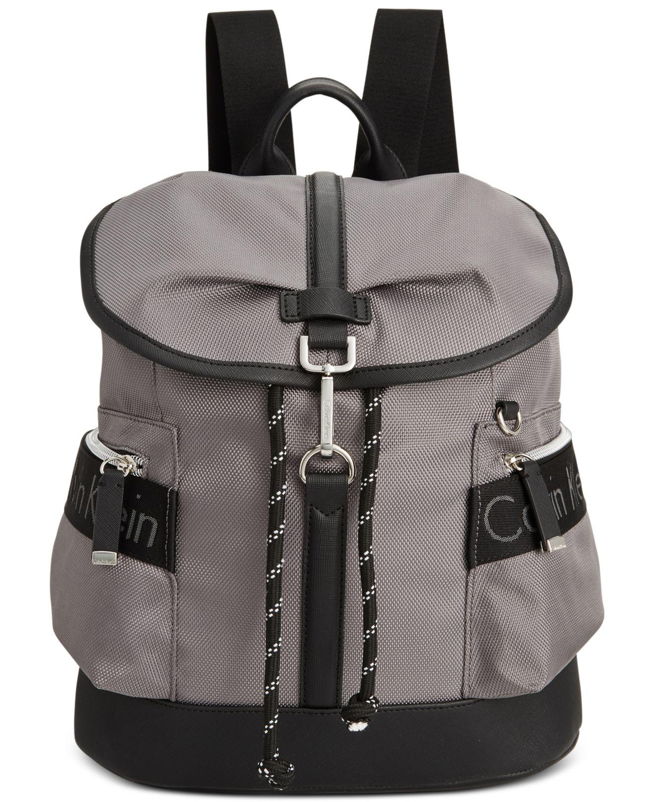 6b91962cea12 Lyst - Calvin Klein Ballistic Nylon Backpack in Black