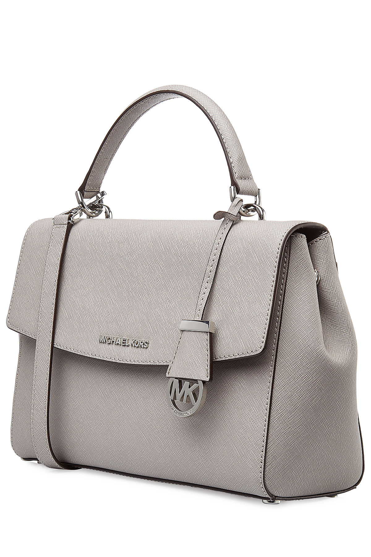 4b71b451f48e Lyst - MICHAEL Michael Kors Ava Small Leather Tote - Grey in Gray
