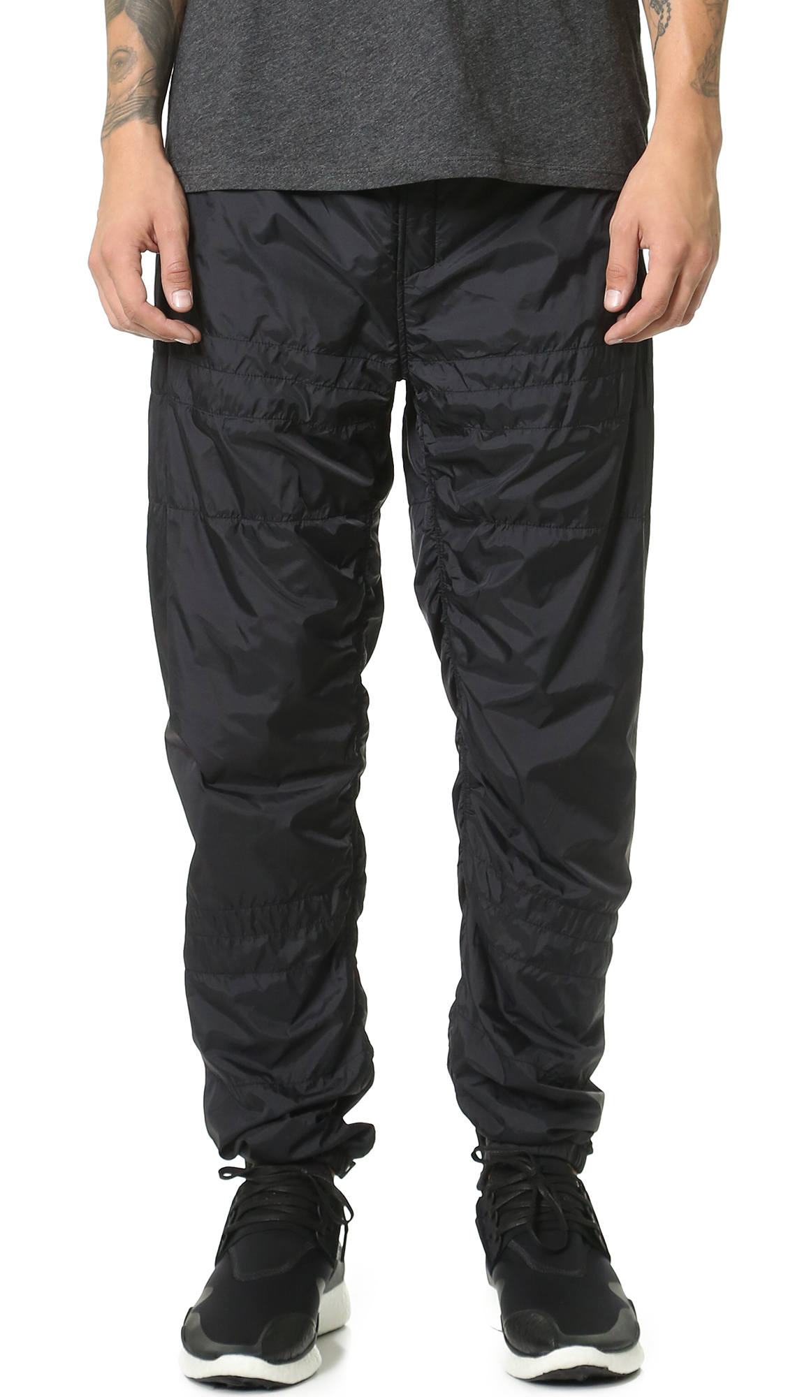 Alexander Wang Laundered Quilted Nylon Track Pants For Men