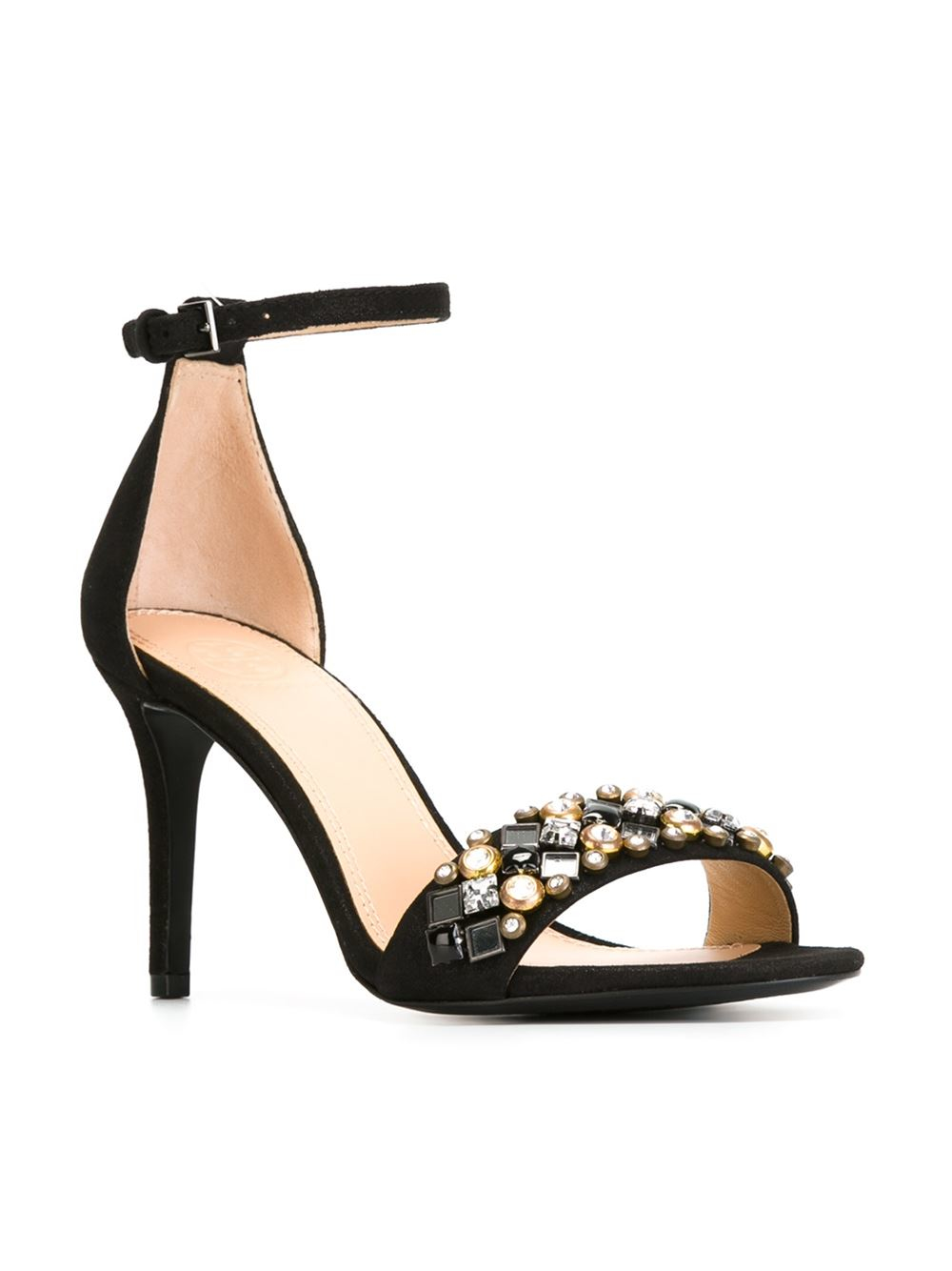 find great cheap online Tory Burch Embellished Cage Sandals fashion Style cheap online amazon for sale new styles online KurRHSq