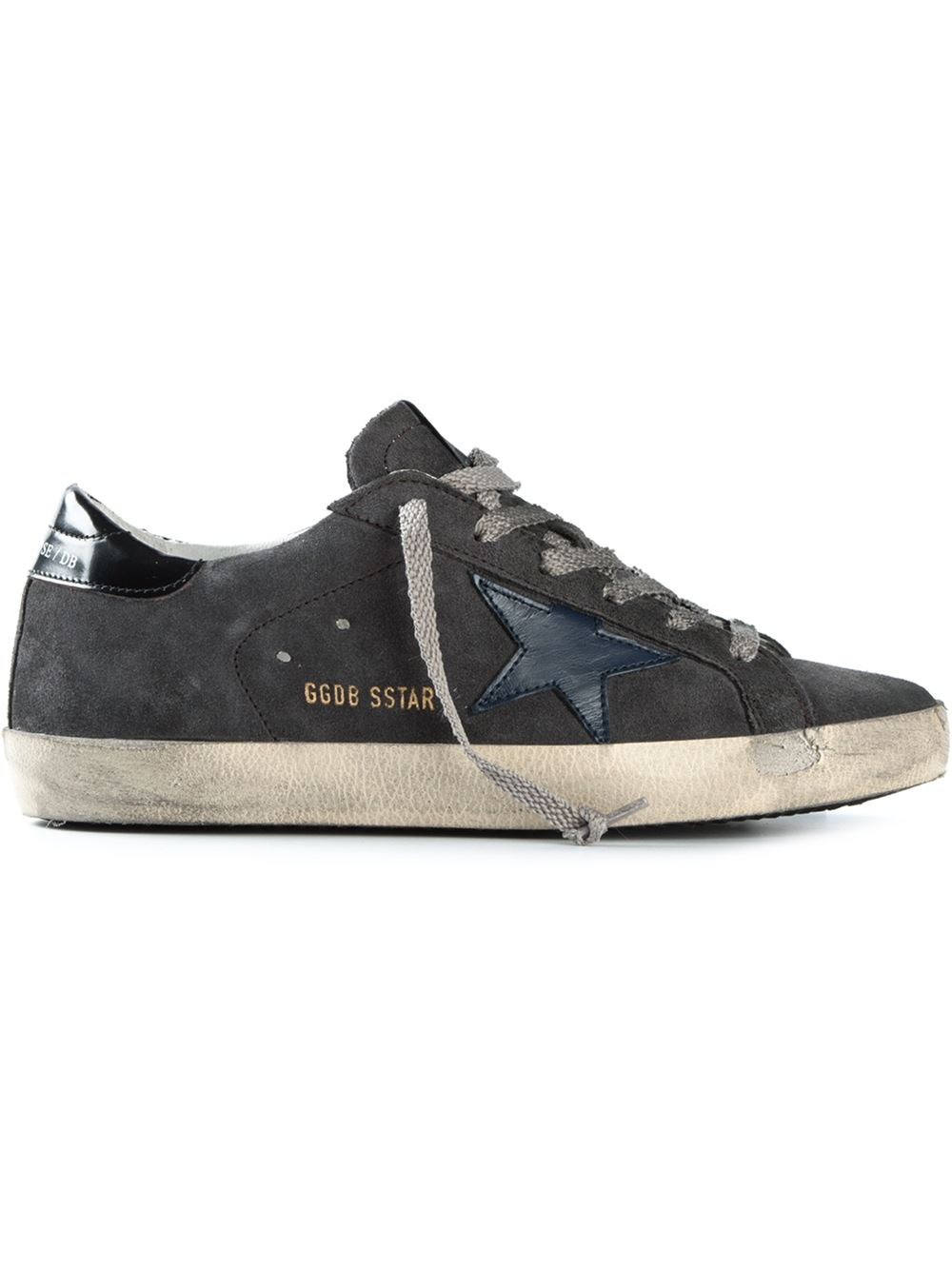 Golden Goose Deluxe Brand Sstar Suede Sneakers in Gray (grey) | Lyst