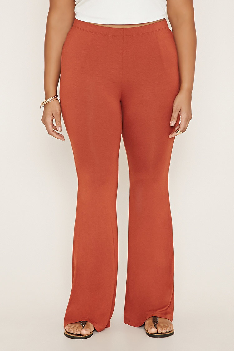3bf3673ad591bb Forever 21 Plus Size Flared Pants in Orange | Lyst