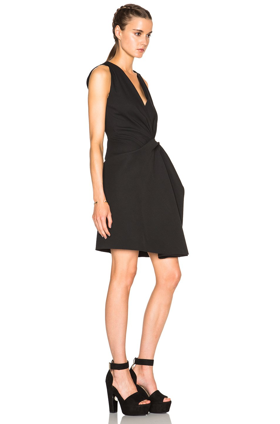 Lanvin V Neck Tank Dress In Black Lyst