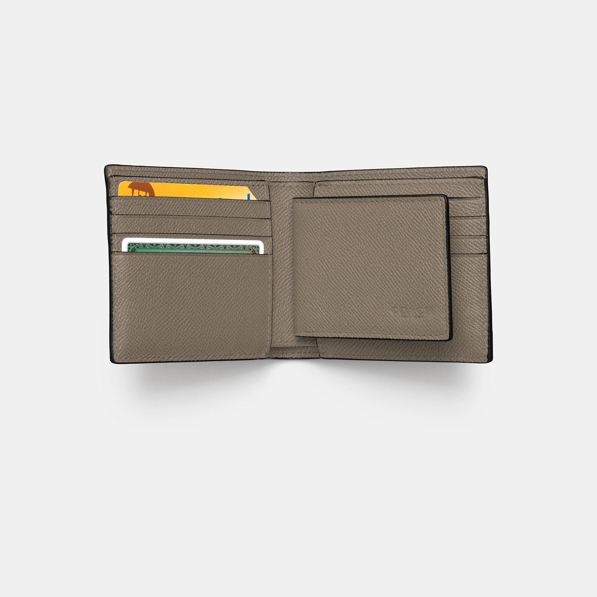 900a7affc796d Lyst - COACH Compact Id Wallet In Crossgrain Leather for Men