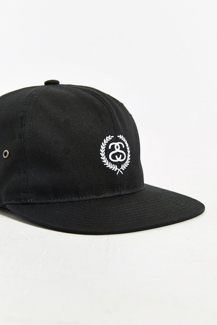 c6f0d0198d9ab2 new zealand stussy snapback black 131807blk af3b0 a3ee7; usa lyst stussy ss  wreath strapback hat in black for men 3b510 b86cb
