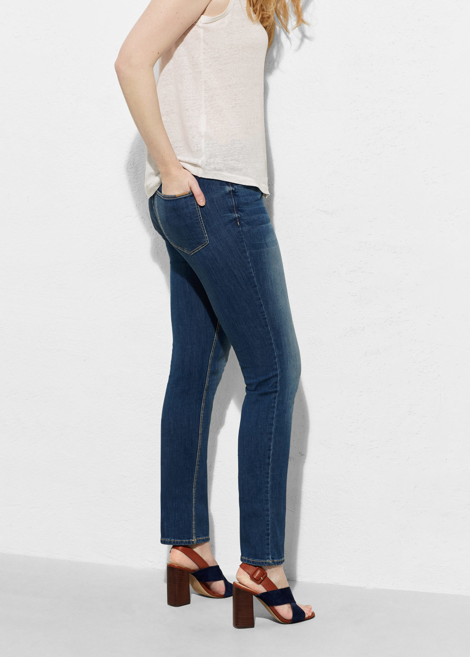 496aa6738ed6 Violeta by Mango Slim-fit Susan Jeans in Blue - Lyst
