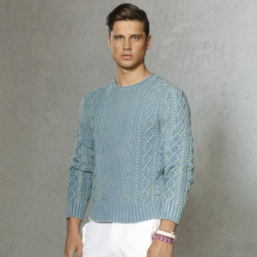 27d6b2bf568 ... store lyst polo ralph lauren indigo aran rollneck sweater in blue for  men f8126 80f9e