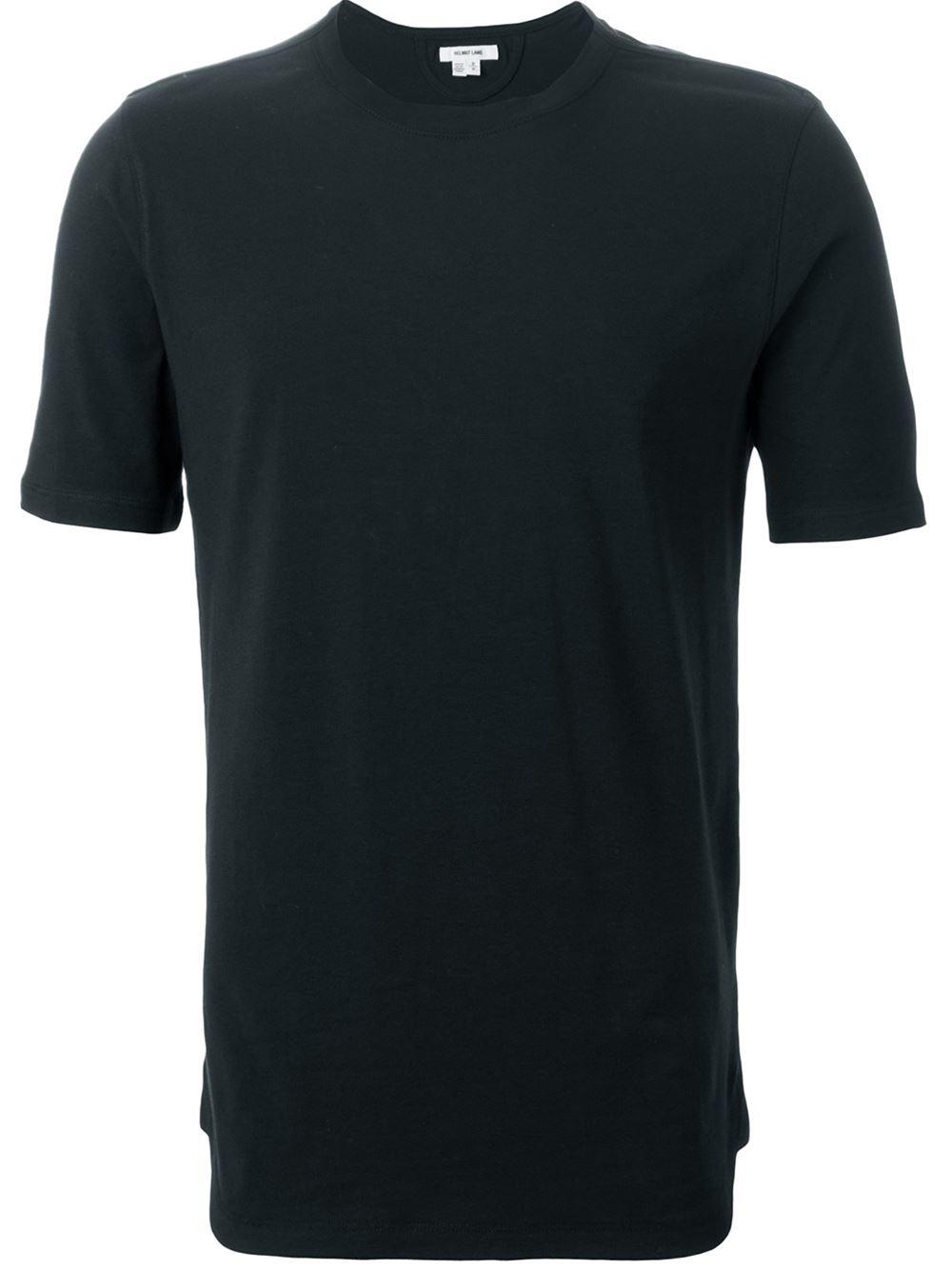 helmut lang round neck cotton t shirt in black for men lyst. Black Bedroom Furniture Sets. Home Design Ideas